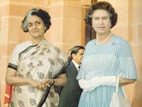 Queen Elizabeth II  with Indira Gandhi, Queen Elizabeth II, Indira Gandhi,Top 10 Iron Ladies,Top 10 The Most Powerful Modern Women Leaders