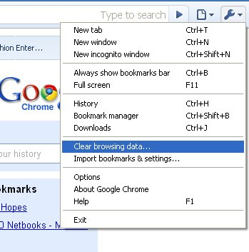 Chrome remove search history : - 27.4KB
