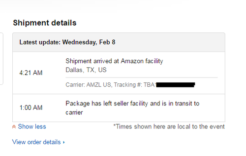 how to use a tracking number on amazon