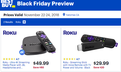 Best buy Black Friday Roku Deals 2018